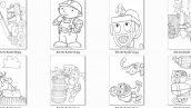 دانلود پکیج جذاب 80 عددی رنگ آمیزی کودکان کارتون باب سازنده