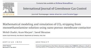 Mathematical modeling and simulation of CO2 stripping