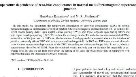 رسانایی در اتصال های فلز معمولی و ابر رساناهای فرومغناطیسی