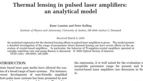 Thermal lensing in pulsed laser amplifiers:analytical model