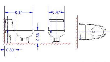 دانلود بلوک اتوکد مبلمان دستشویی فرنگی| آبجکت اتوکد دو بعدی