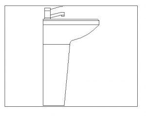 دانلود بلوک اتوکد مبلمان دستشویی فرنگی  آبجکت اتوکد دو بعدی