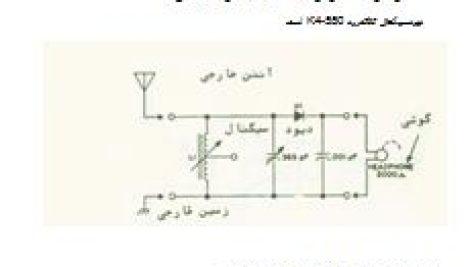 مدار الکتریکی گیرنده رادیوی کریستالی
