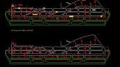 پروژه اتوکد طراحی باند فرودگاه مناسب هواپیمای بوئینگ 747