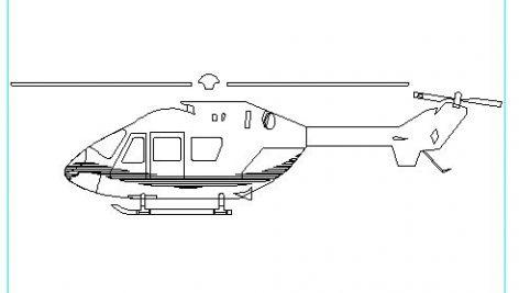 دانلود بلوک اتوکد هلیکوپتر (بالگرد)