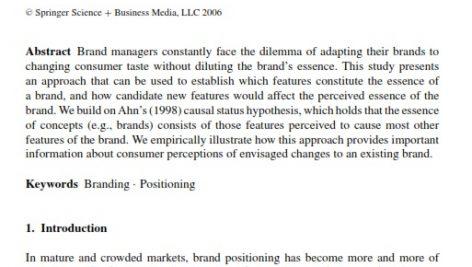 اندازه گیری و مدیریت جوهره شخصیت برند Measuring and managing the essence of a brand personality