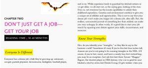 DON'T JUST GET A JOB— GET YOUR JOB